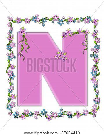 Alphabet Daisy Fair Pink N