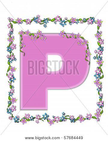 Alphabet Daisy Fair Pink P