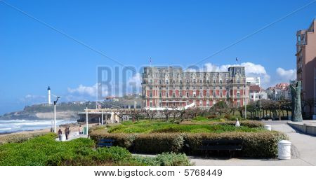 View Of Biarritz With Eugenie Palace