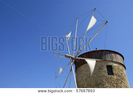 old Rhodes windmills, Greece