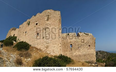 Medieval Castle of Kritinia in Rhodes Greece, Dodecanese