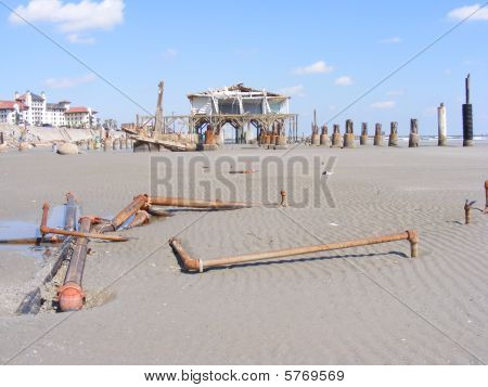Oceanfront Damage from Hurricane Ike