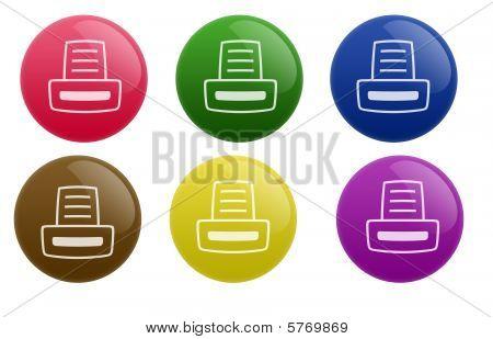 Glossy Printer Button