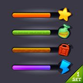 image of accumulative  - game resource bar - JPG