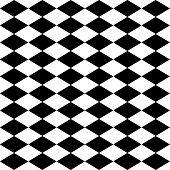 Seamless Harlequin Pattern-black And White