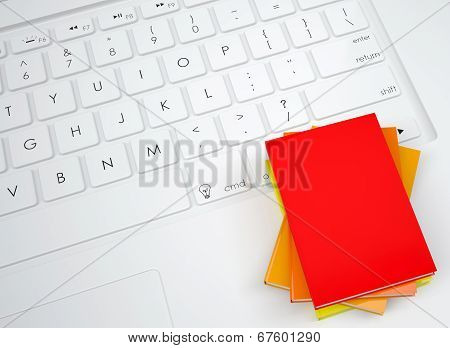 Group books on the keyboard