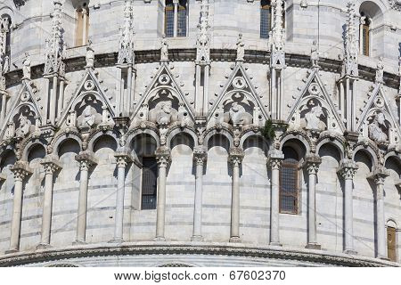Baptistery, Piazza Dei Miracoli, Pisa, Tuscany, Italy