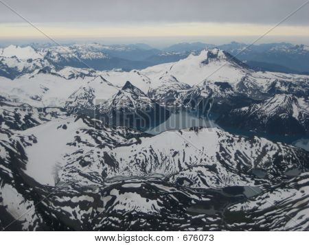 Aerial View Of Snow Mountains