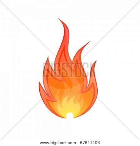 Flame icon. Vector illustraton of fire