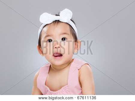 Asian baby girl portrait