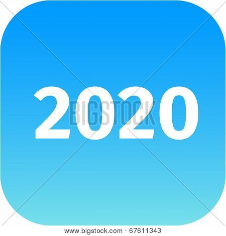 Year 2020 Blue Icon