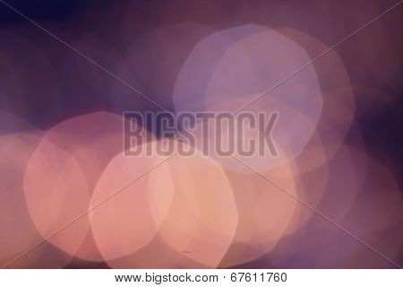 Abstract Defocused Bokeh Light Vintage Background With Red Lights.