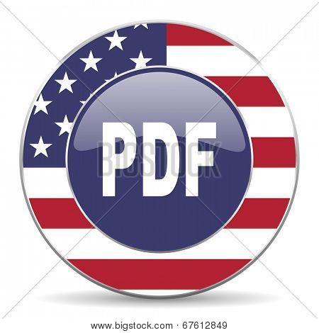 pdf american icon