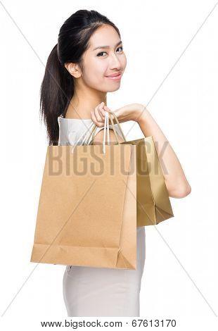 Woman hold shopping bag