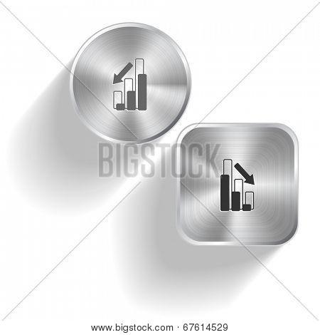 Graph degress. Raster set steel buttons