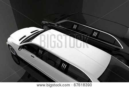 Black And White Limousine