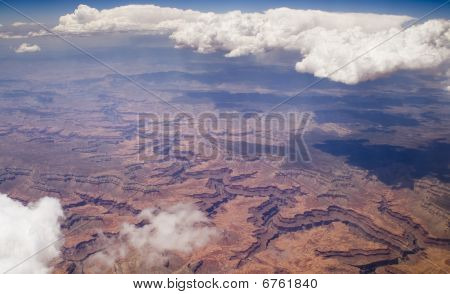 Bird's Eye Image Of Grand Canyon.