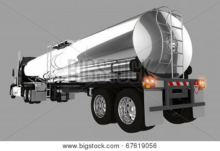 Tanker Trailer Isolated