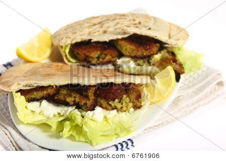 Falafel-Pitta-sandwich