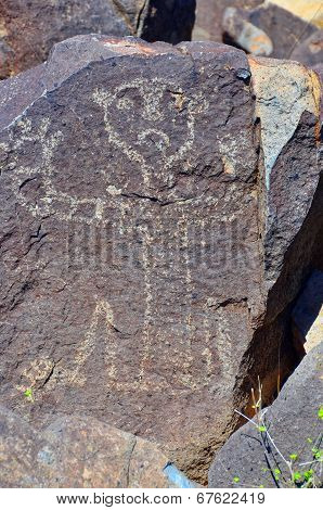 Petroglyphs on the stone in petroglyphs National Preserve
