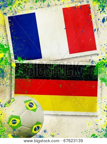 France vs Germany soccer ball concept