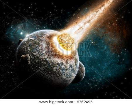 Earth apocalypse / armageddon - Meteorite attact - end of the time