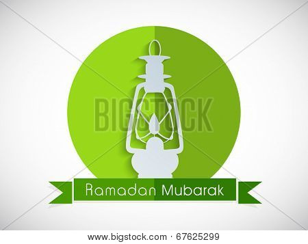 Beautiful sticky design with intricate lantern for the celebrations of Muslim community holy month of Ramadan Mubarak.