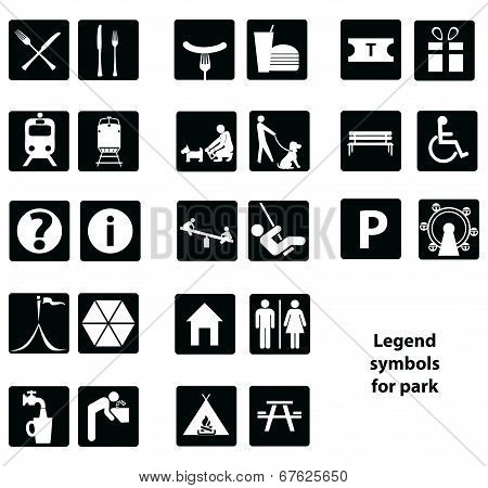Legend Symbols For Park