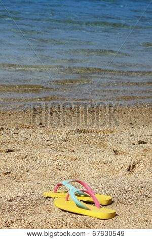 Flip Flops At The Sea