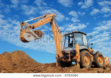 Excavator Loader With Rised Backhoe