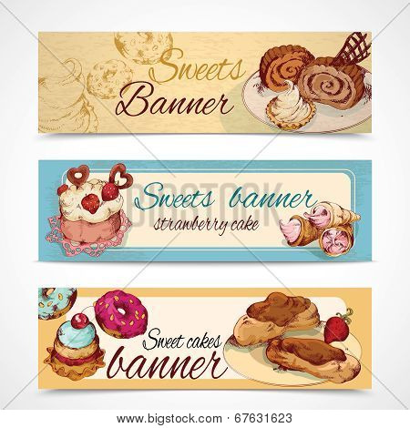 Sweets colored banners