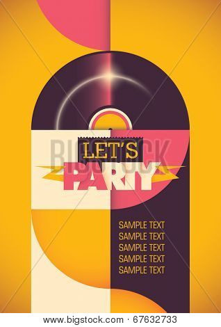 Modern illustration of party poster. Vector illustration.
