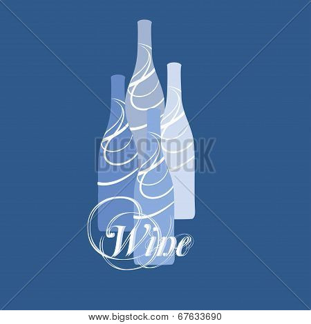 vector wine bottle silhouette
