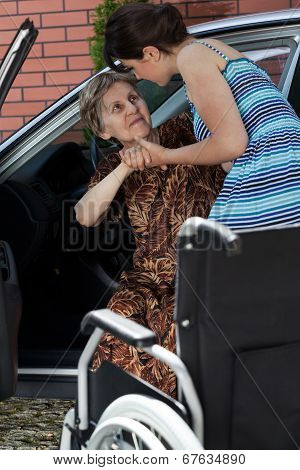 Disabled Lady Before Driving