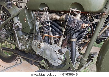 Old Harley Davidson Engine