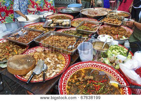 Food Stall In Bangkok Thailand