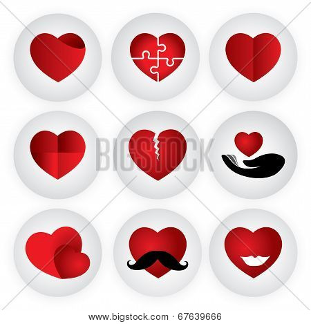 Heart Vector Icon Indicating Love, Togetherness, Romance, Passion