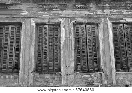 Broken Window Shutters