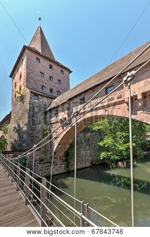 Kettensteg Over Pegnitz