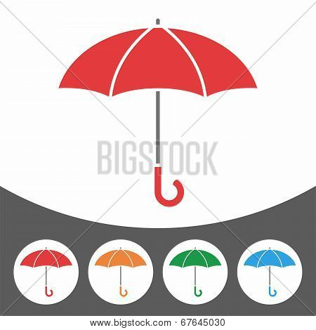 Umbrella icon set