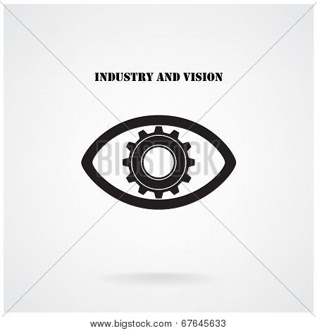 Gear Sign And Eye Concepts