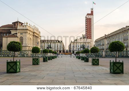 Torino (turin), Piazza Castello And Palazzo Madama