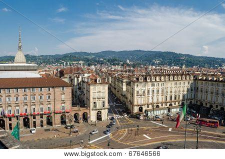 Torino (turin), Skyline From Palazzo Madama