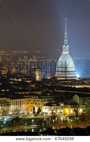 Turin (torino), Mole Antonelliana At Night