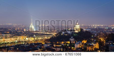 Turin (torino), Night Panorama