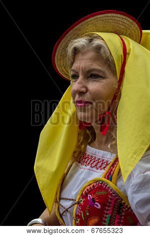 Spanish woman in traditional dress