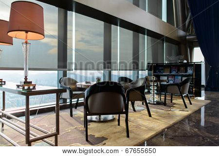 SHENZHEN - MAY 28: hotel interior on May 28, 2014 in Shenzhen, China. The Saint Regis Hotel is located on Shennan Road near the Caiwuwei Financial Center in the Luohu District