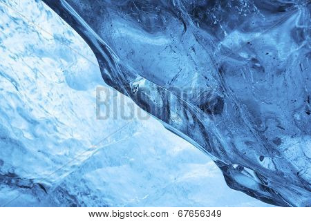 Amazing ice cave inside vatnajokull, europe largest glacier