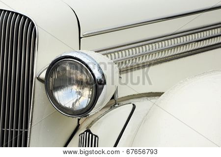 Headlamp Of Vintage Car