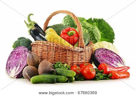 Composition With Variety Of Fresh Raw Organic Vegetables